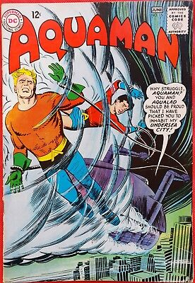 AQUAMAN 15 DC Silver Age 1964 Menace of the Man-Fish vfn