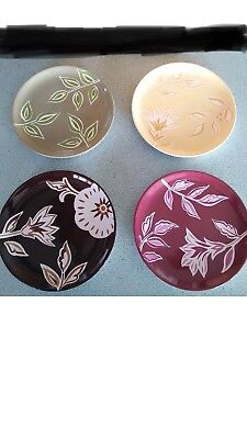 "Longaberger Stoneware Nature's Traditions 7""  Plates set of 4  NEW in box J24"