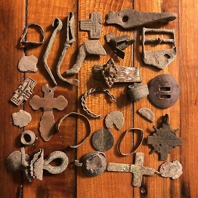 Ancient Medieval Artifacts Lot Antiquities Metal Detector Find European Viking H