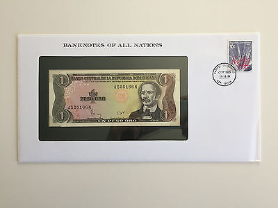 Banknotes of All Nations – Dominican Republic 1 Peso 1984 UNC