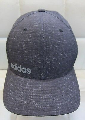 7546758e0e3 Adidas Climacool Chino Print Golf Hat Flexfit Fitted Cap Lid Gray L xl New