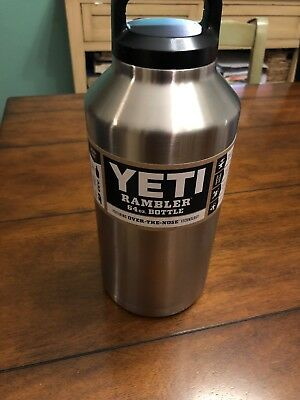 Brand New! YETI Rambler Bottle - 64 oz., Stainless Steel-Free shipping