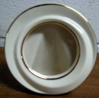 """Lenox """"The Ivory and Gold Memorable Frame"""" ~ 5"""" Round for 3"""" Photo"""