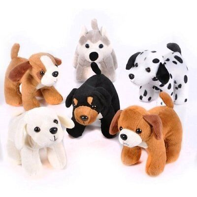 6 Inches Tall Plush Puppy Dogs Pack Of 12 Stuffed Animals Bulk