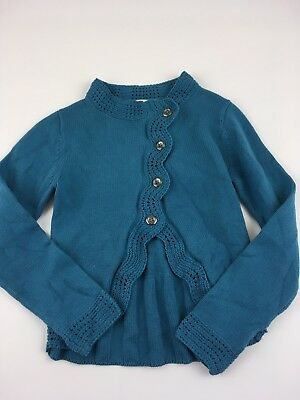 Girls Persnickety Cardigan Blue Size 10
