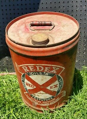 Vintage Redex Fuel Tin