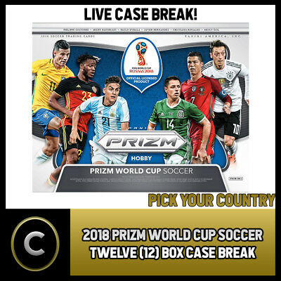 2018 Panini Prizm World Cup Soccer 12 Box (Case) Break #s020 - Pick Your Country