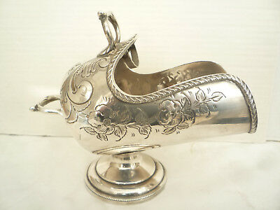 Lovely Antique Silver Plated Chased Sugar Scuttle And Scoop - Harrison Fisher