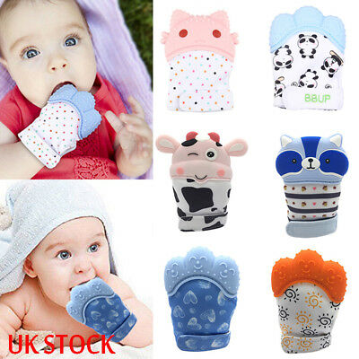 Baby Toddler Silicone Mitts Teething Mitten Teething Molar Glove Teether Wrapper