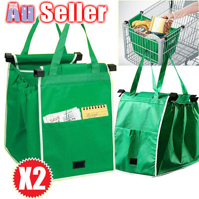 Portable Trolley Totes Reusable Storage Eco Cart Grocery Foldable Shopping Bag