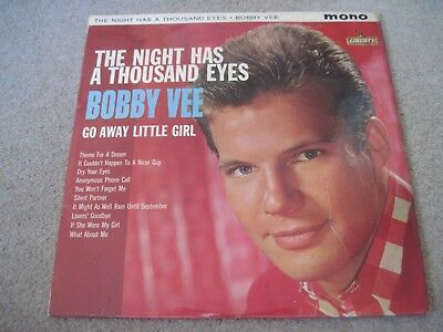 BOBBY VEE The Night Has A Thousand Eyes 1963 LIBERTY   superb EX
