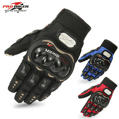 Touch Screen Carbon Fiber Knuckle Mens Motorcycle Racing Gloves Motorbike Riding