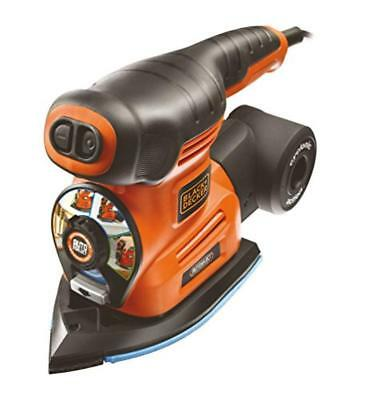 BLACK+DECKER KA280-QS Multi Levigatrice 4 in 1 Autoselect, con 6 Accessori - NUO