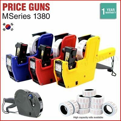 Price Tag Guns Labels Tags Sticker 8 Digits MSeries 1380 EOS MX5500 800x/Roll