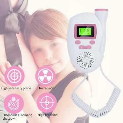 UK Pocket Fetal Doppler Baby Heart Beat Rate Monitor LCD Probe Pregnancy Fetus
