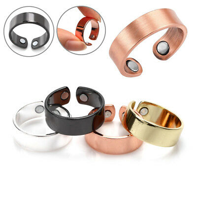Magnetic Ring Copper Arthritis Aid Therapy Pain Healing Health Adjustable Size