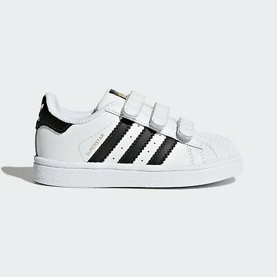 wholesale dealer a501d 2c5d3 Scarpe Adidas Superstar BZ0418 (TD) Bianco Nero Calzature Bambino a Shoes  Nuovo