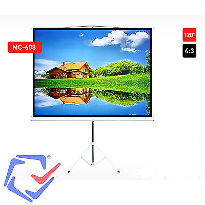 Projection Screen With 200x200 Tripods Viewing Angle: 160 ° Maclean MC-680