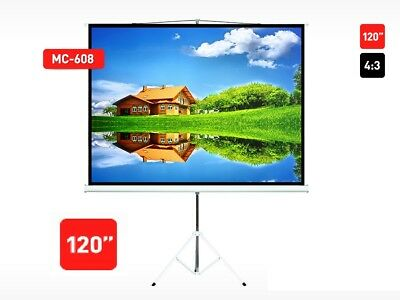 "120"" Stand Projection Screen 120"" 4:3 240x180 HD 3D 240x180 4:3 Maclean UK Stock"