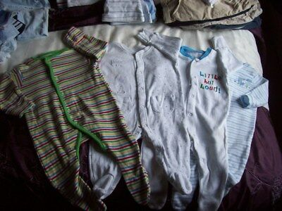 0 - 3 months Baby Sleep-suits, Baby-grows John Lewis, TU, F&F x 4 items