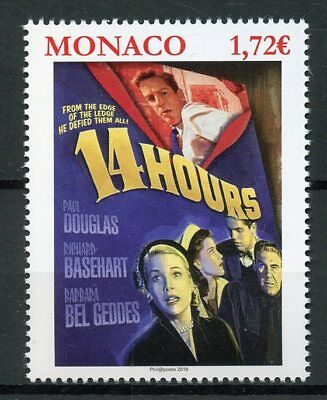 Monaco 2019 MNH Grace Kelly 14 Hours 1v Set Famous People Movies Royalty Stamps