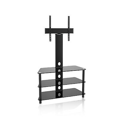 "TV Stand Bracket Universal Modern Design 3tier Tempered Glass 32 55"" Maclean"