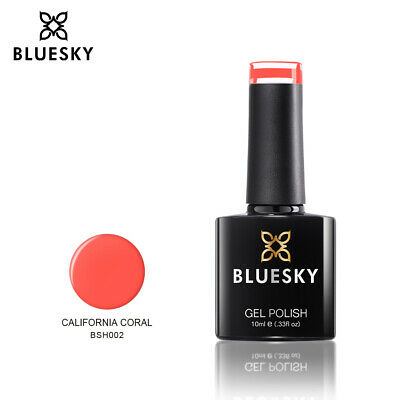 Bluesky California Coral Orange UV/LED Soak Off Nail Gel Polish 10ml Free P&P