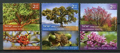 Israel 2018 MNH Trees of Israel 3v Set Flowers Plants Nature Stamps