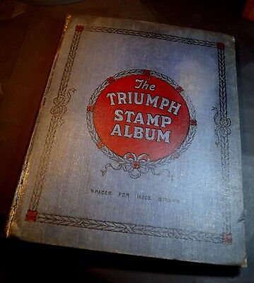 THE TRIUMPH STAMP ALBUM-NO STAMPS(Repaired-see Pictures)