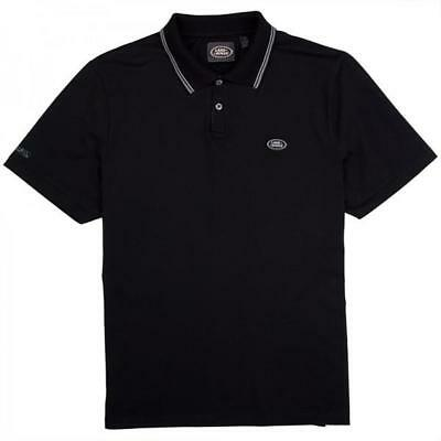 51LRMPOLOBLKCR Land Rover men's polo shirt black