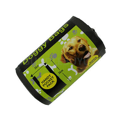 Dog Poo Bags Tie Handles Handy Pocket Size Roll Large Doggy Waste Bags 100-700