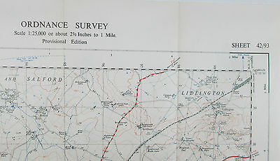 1947 OS Ordnance Survey 1:25000 First Series Provis Map SP 93 Woburn 42/93