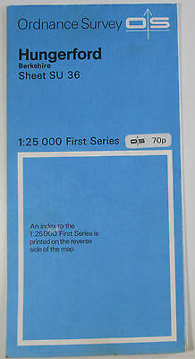 1961 old vintage OS Ordnance Survey 1:25000 First Series Map SU 36 Hungerford