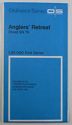 1955 OS Ordnance Survey 1:25000 First Series Map SN 79 Anglers' Retreat