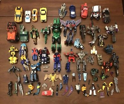 Huge Transformers Lot For Parts Weapons Custom Fodder Repair 70+ Pieces 8 Lbs!