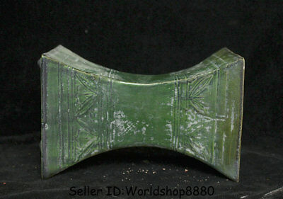 "7.2"" Antique Old Chinese Tang Sancai Green Porcelain Dynasty weeping willow"