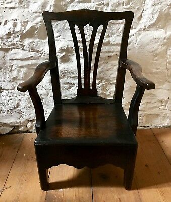 Antique Georgian Mahogany Childs Chair
