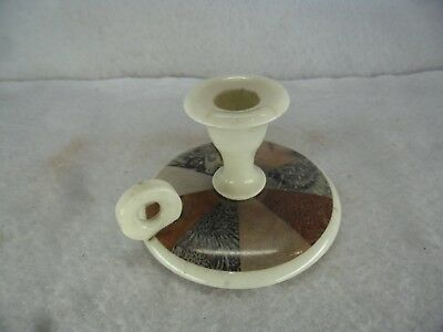 Antique Marble Inset Chamber Stick