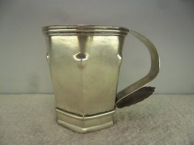 Spanish Colonial South American Solid Silver c1800 Mug Tankard Cup