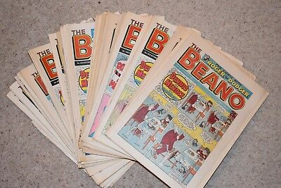 FULL YEAR job lot of Beano Comics (53 issues) from the year 1988, excellent