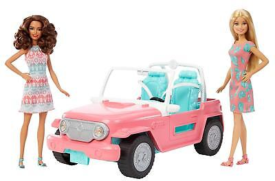 Barbie Beach Cruiser Convertible Jeep 2 Barbie Dolls Included NEW