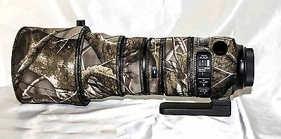 Sigma 150-600mm f/5-6.3 Sport Lens neoprene camo cover set plus zoom tube cover