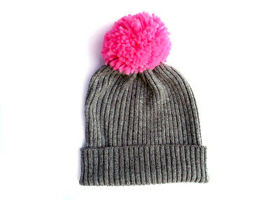 b0c2a885af4 HAT ATTACK LIGHTWEIGHT Ribbed Watch Hat with Faux Fur Pom Gray - New ...