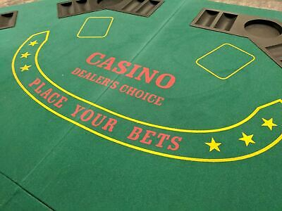 eSecure 1.2m Large Folding Poker Table Top, 8 Players, Chip Trays