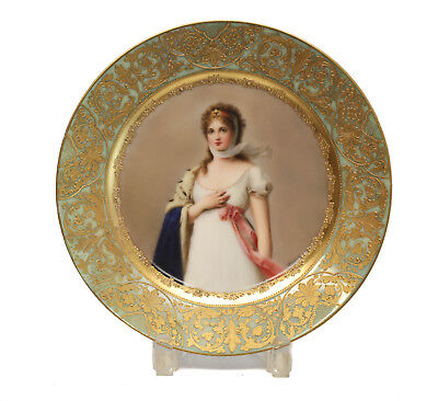 Royal Vienna Hand Painted Porcelain Cabinet Plate, circa 1900. Signed Wagner