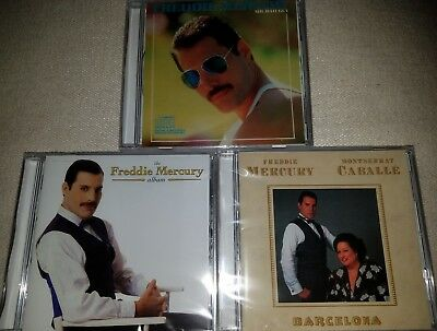 3CD Freddie Mercury-Mr.Bad Guy 1985/ The Album 1993/ Barcelona (M.Caballé) 1988
