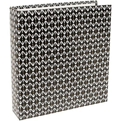 American Crafts Project Life Album 6 X 8 Black Pattern