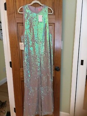 a3fbadc1ecb4 Free People Starbright Sequin Plush Jumpsuit Size L Retail   300