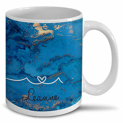 Personalised Marble Design Novelty Gift Coffee Tea Cup Mug - A16