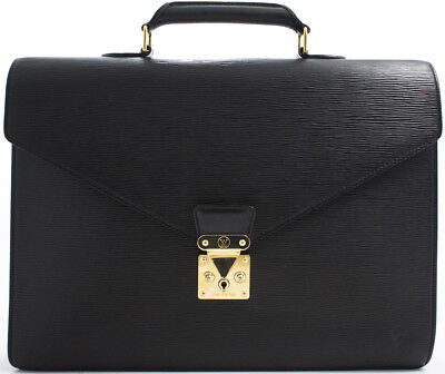 2b00fe388ea2d Louis Vuitton Epi Serviette Aktentasche Business Briefcase Bag Tasche Manko